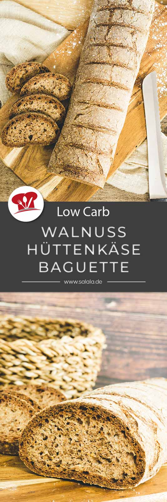Baguette passt zum Grillen wie Essig zum Salat. Das muss einfach sein. Und nur weil du Low Carb isst musst du nicht auf ein leckeres Baguette verzichten. Die Zutaten für das Rezept sind auch nicht extremst exotisch, als auf mit dir in die Küche und back los. #lowcarbbrot #lowcarbbaguette #brotmitwalnuss #brotmitbambusfasern #backenmitbambusfasern #brotohnemehl #brotohnegetreide #lowcarbgrillen #glutenfreibacken
