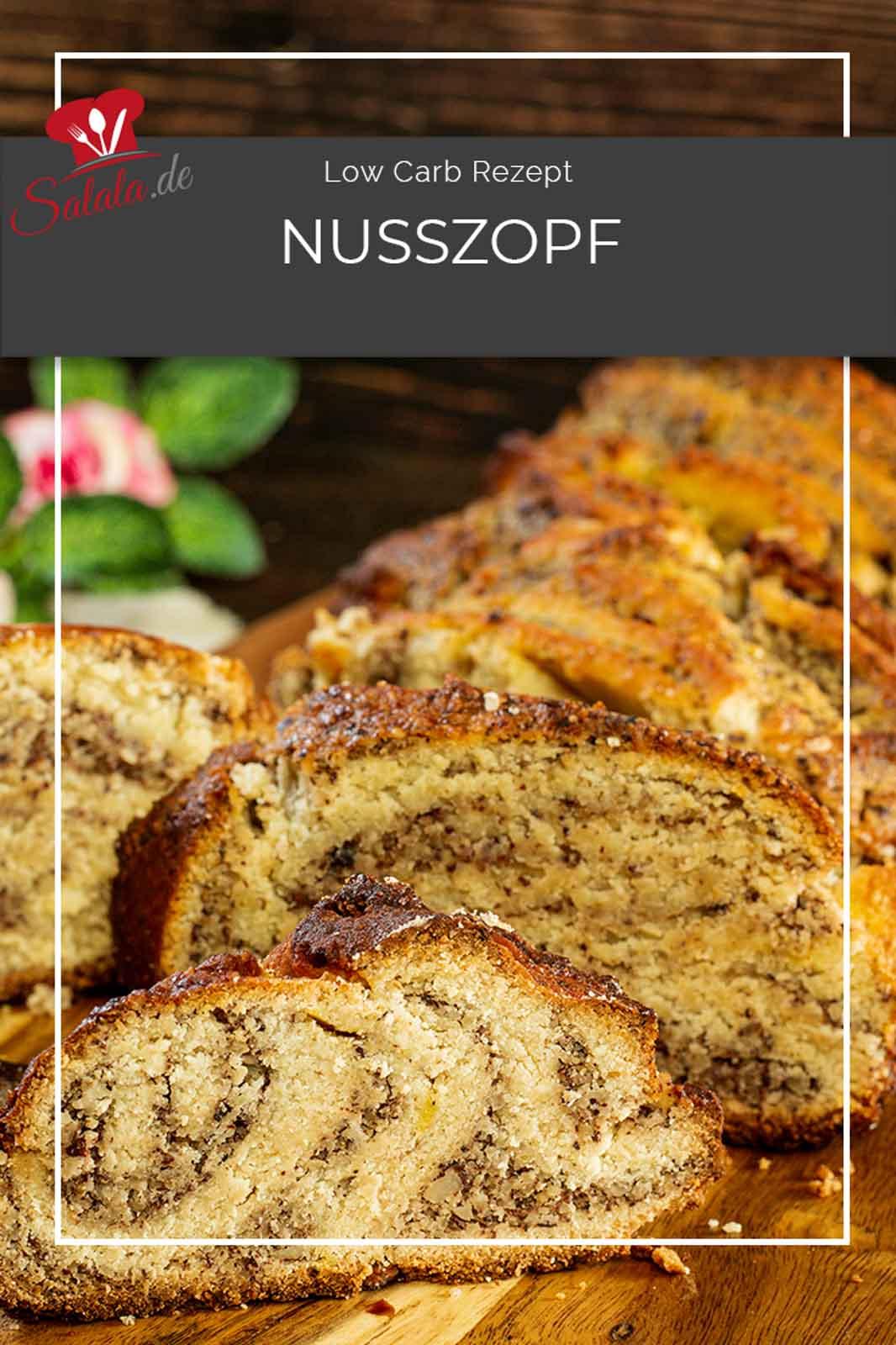Einen trockenen Kuchen wollte Nico. So richtig schön Low Carb und keine Torte. Was hat er bekommen? Einen Nusszopf. Ein Rezept ohne Hefe sondern mit einem Low Carb Knetteig und einer leckerern Haselnussfüllung. Hat ihm geschmeckt, auch wenn's kein Kuchen war. #LowCarbNusszopf #Nusszopf #NusszopfOhneHefe #NusszopfOhneMehl #GlutenfreierNusszopf #NusszopfSelberMachn #RezeptFuerNusszopf