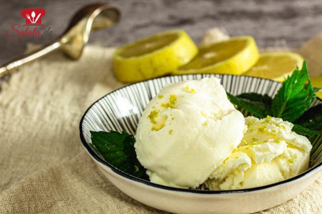 Frischkäse-Zitronen-Eis ohne Zucker