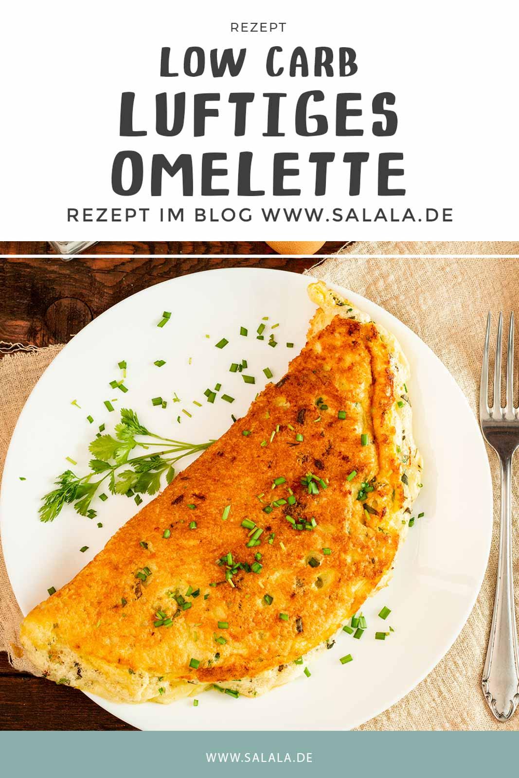 Total luftiges Omelette zu machen ist nicht schwer. Hier gibt's ein Rezpet für ein Keto Omelette mit Käse und Kräutern das perfekt für dein Keto oder Low Carb Frühstück und auch total lecker. Macht dich garantiert lange satt. #LowCarbOmelette #EierfastenRezepte #RezeptfuerOmelette #RezepteMitEier #LowCarbFruehstueck
