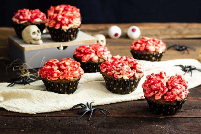 Braincakes – Halloween Gehirn Cupcakes ohne Zucker