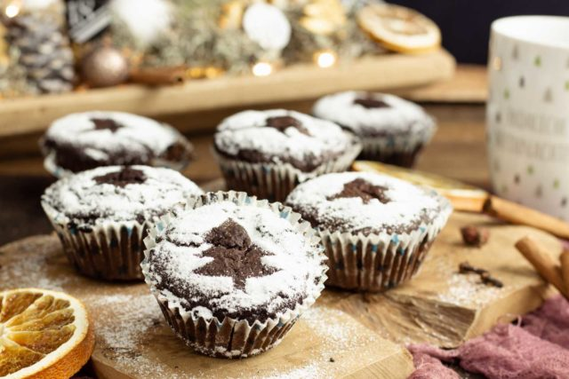 Glühweinmuffins ohne Zucker und #foak2020