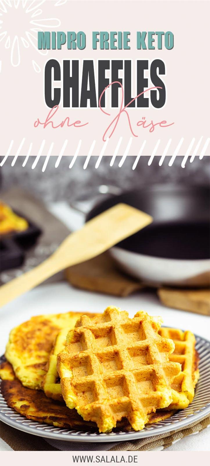 Chaffles OHNE Käse - Keto Waffel Rezept ohne Milchprodukte