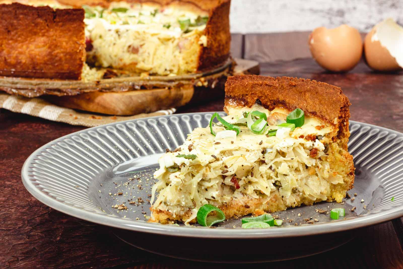 Sauerkraut Quiche Keto Rezept