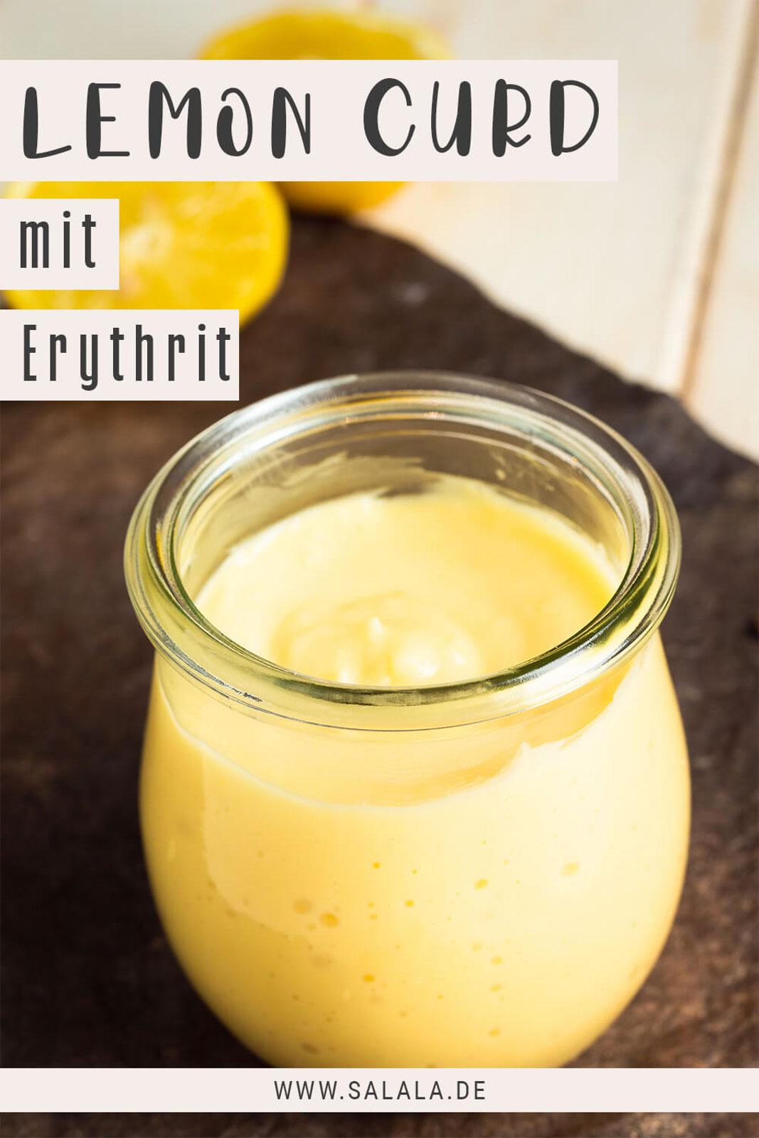 Lemon Curd mit Erythrit Keto Zitronencreme