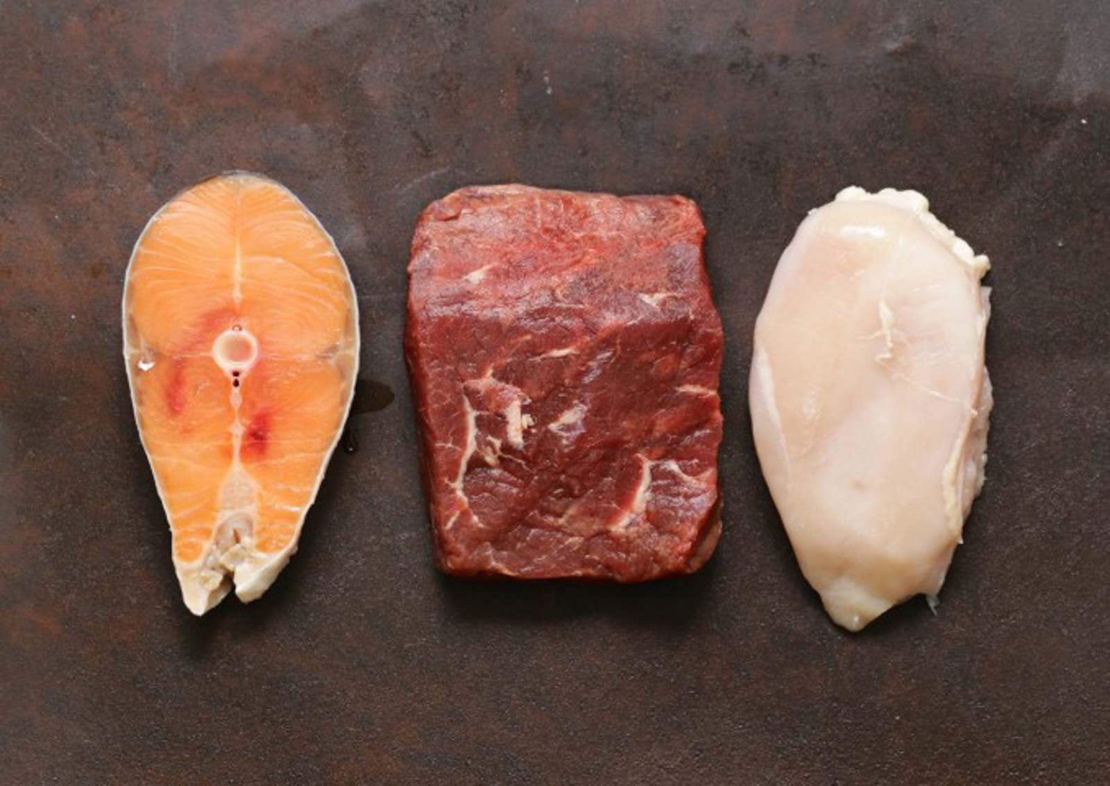 raw meat fish and chicken PR7BXK8 Small