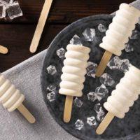 Mandelflip Eis am Stiel ohne Zucker ohne Ei Keto Rezept