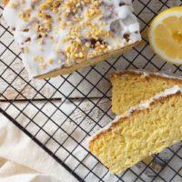 Zitronenkuchen mit Guss aus Erythrit Keto Rezept