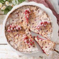 Johannisbeer Baiser Kuchen ohne Zucker