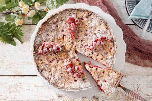 Johannisbeere Baiser Kuchen ohne Zucker