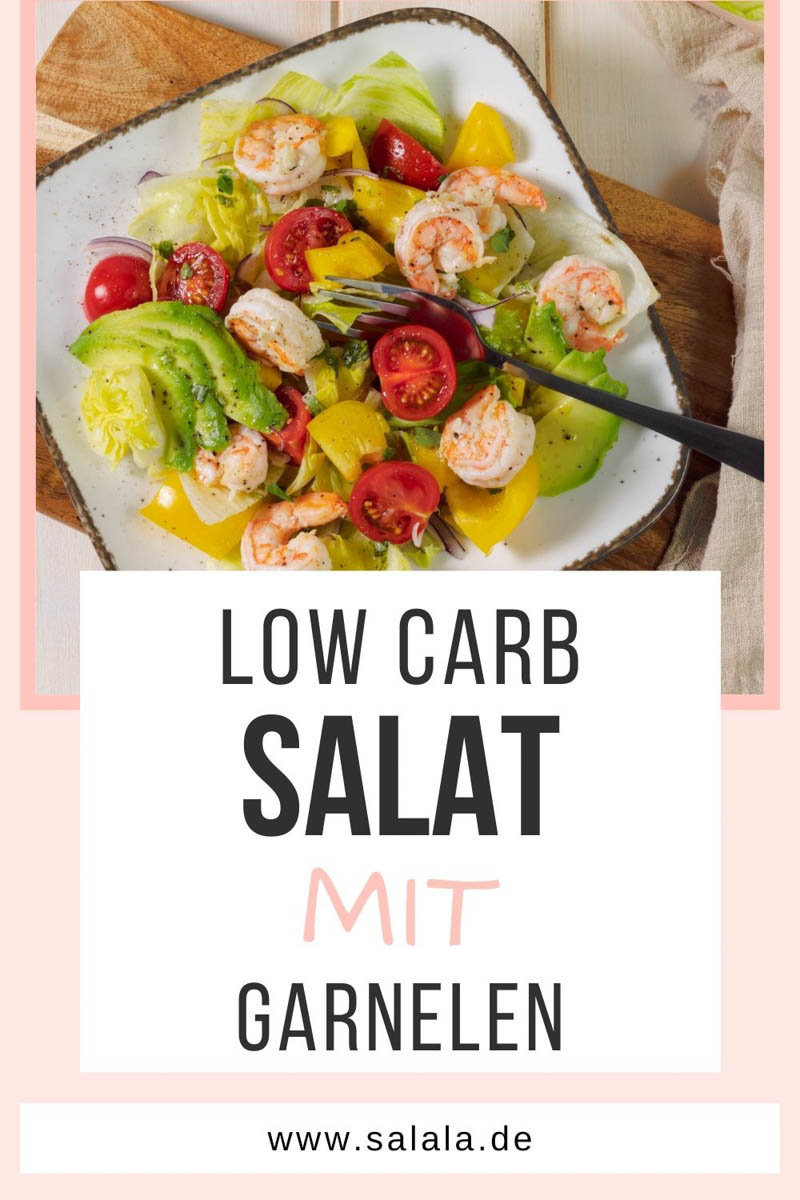 Bunter Salat mit Garnelen Keto Rezept