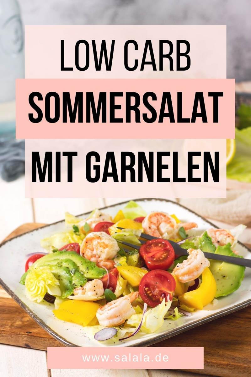 Salat mit Garnelen Low Carb Rezept
