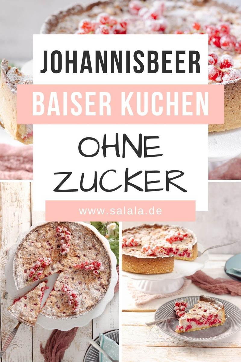 Zuckerfreier Johannisbeeren-Baiser-Kuchen