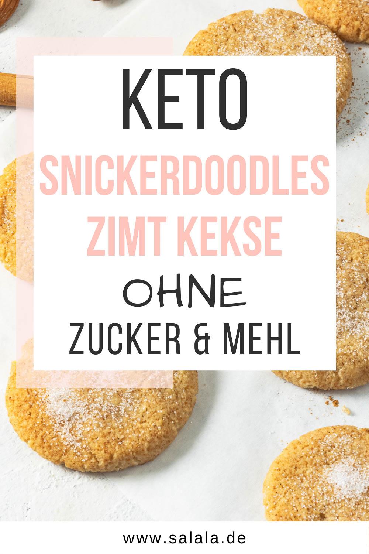 Snickerdoodles ohne Zucker Keto Rezept