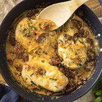 Hähnchen mit Parmesankruste